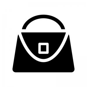 クラッチバッグの白黒シルエットイラスト04