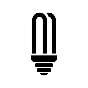コンパクト蛍光灯の白黒シルエットイラスト02