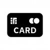 クレジットカード・キャッシュカードの白黒シルエットイラスト06