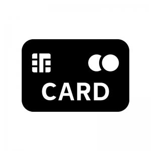 クレジットカードのシルエット06 無料のaipng白黒シルエットイラスト