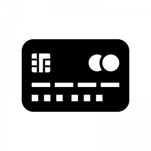クレジットカード・キャッシュカードの白黒シルエットイラスト07