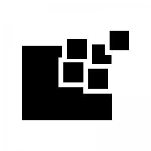 デフラグの白黒シルエットイラスト02