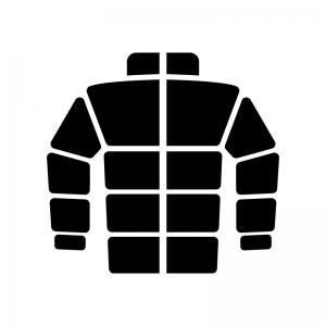 ダウンジャケットのシルエット 無料のaipng白黒シルエットイラスト