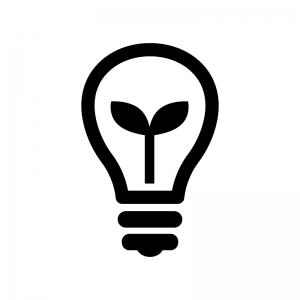節電の電球の白黒シルエットイラスト02