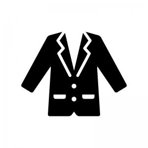 ジャケットの白黒シルエットイラスト