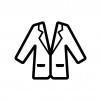 ジャケットの白黒シルエットイラスト02