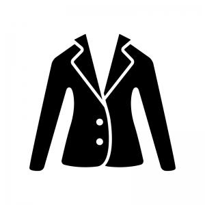 ジャケットの白黒シルエットイラスト03