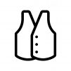 洋服・ベストの白黒シルエットイラスト02