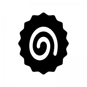 ナルトの白黒シルエットイラスト02