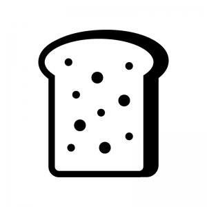 ライ麦パンの白黒シルエットイラスト