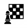 チェスの白黒シルエットイラスト