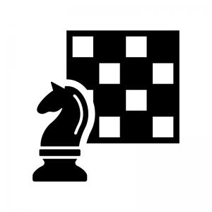 チェスの白黒シルエットイラスト02