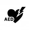 AEDの白黒シルエットイラスト02