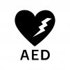 AEDの白黒シルエットイラスト03
