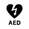 AEDの白黒シルエットイラスト04