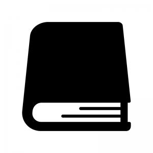 本・辞典の白黒シルエットイラスト