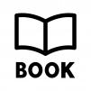 本・BOOKの白黒シルエットイラスト