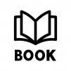 本・BOOKの白黒シルエットイラスト02