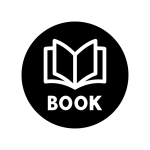 本・BOOKの白黒シルエットイラスト03