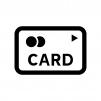 クレジットカード・キャッシュカードの白黒シルエットイラスト05