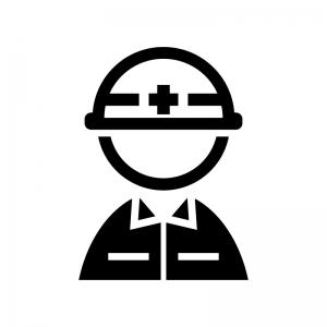 工事作業員のシルエット 無料のaipng白黒シルエットイラスト