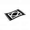 絨毯の白黒シルエットイラスト02