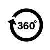 360度の白黒シルエットイラスト02