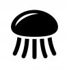 クラゲの白黒シルエットイラスト