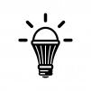 LED電球の白黒シルエットイラスト03