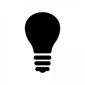 電球の白黒シルエットイラスト04