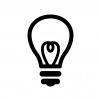 電球の白黒シルエットイラスト06