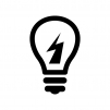 電球の白黒シルエットイラスト08