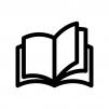 本(見開き)の白黒シルエットイラスト03