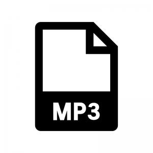 MP3ファイルの白黒シルエットイラスト02