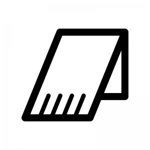 マフラーの白黒シルエットイラスト02