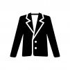 ジャケットの白黒シルエットイラスト04