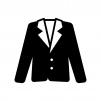 ジャケットの白黒シルエットイラスト05
