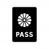 パスポートの白黒シルエットイラスト
