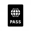 パスポートの白黒シルエットイラスト05
