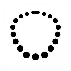 パールのネックレスの白黒シルエットイラスト