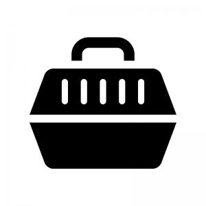 ペットキャリーバッグの白黒シルエットイラスト