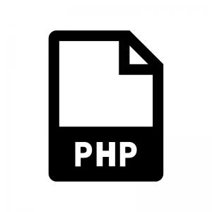 PHPファイルの白黒シルエットイラスト02