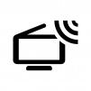 ワンセグ・ポータブルテレビの白黒シルエットイラスト02
