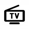 ワンセグ・ポータブルテレビの白黒シルエットイラスト03