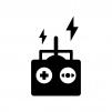 ラジコンのリモコンの白黒シルエットイラスト02