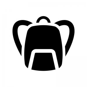 リュックサックの白黒シルエットイラスト02