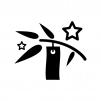 七夕飾りの白黒シルエットイラスト02