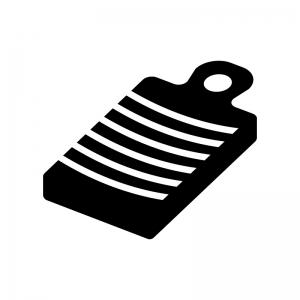 洗濯板の白黒シルエットイラスト02