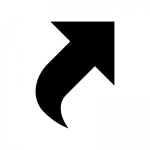 ショートカット矢印の白黒シルエットイラスト