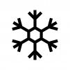 雪の結晶の白黒シルエットイラスト10